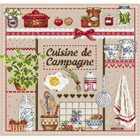 broderie cuisine madame la f 233 e cuisine de cagne fiche point de croix
