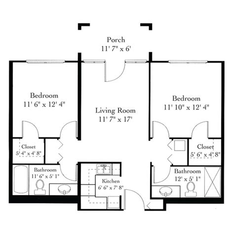 Assisted Bathroom Layout by The Barrington 187 Floor Plans