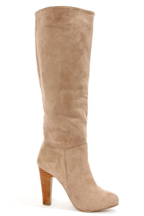 taupe boots knee high boots high heel boots 56 00