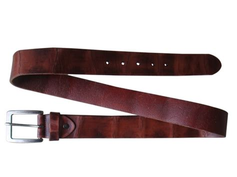 custom genuine leather belts with your color and company
