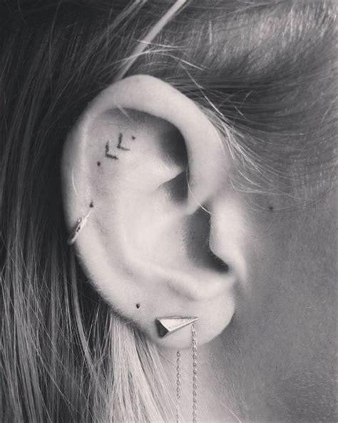 airplane tattoo behind ear tiny tattoo idea 16 tiny ear tattoos that are perfect