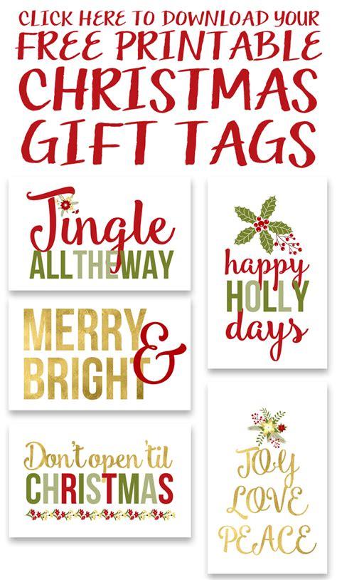 printable christmas gift tags yellow bliss road