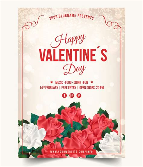 valentines day posters 5 beautiful print ready s day posters free