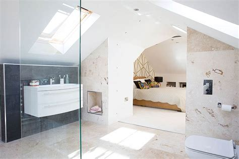 open plan ensuite bathroom open plan master bedroom loft conversion real homes