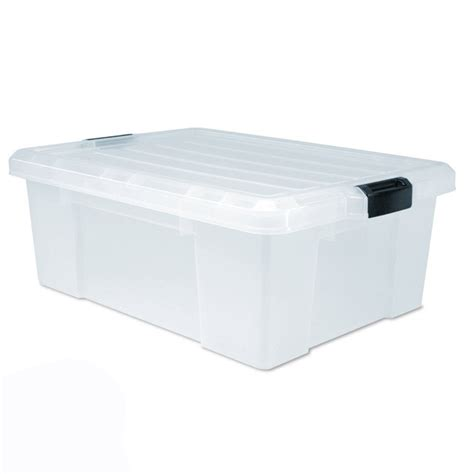 clear plastic storage container clear storage totes sterilite 19889804 70 quart 66 liter