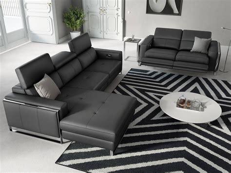eckgarnitur sofa mit relaxfunktion  leder sofanella