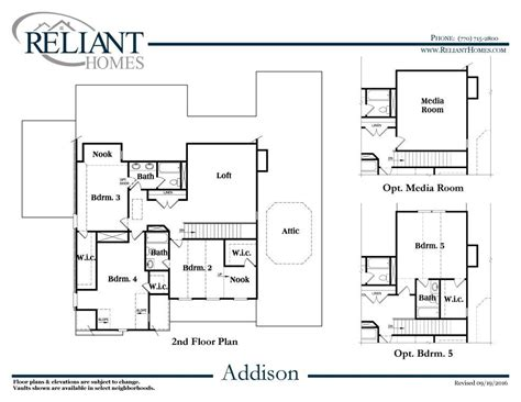 Addison Floor Plan | addison b se reliant homes new homes in atlanta