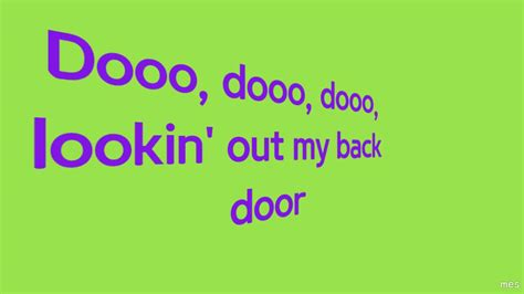 Looking Out Back Door Lyrics by Lookin Out Back Door Creedence Clearwater Revival