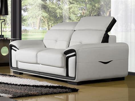 canapé 2 5 places vaisselier design blanc nitro