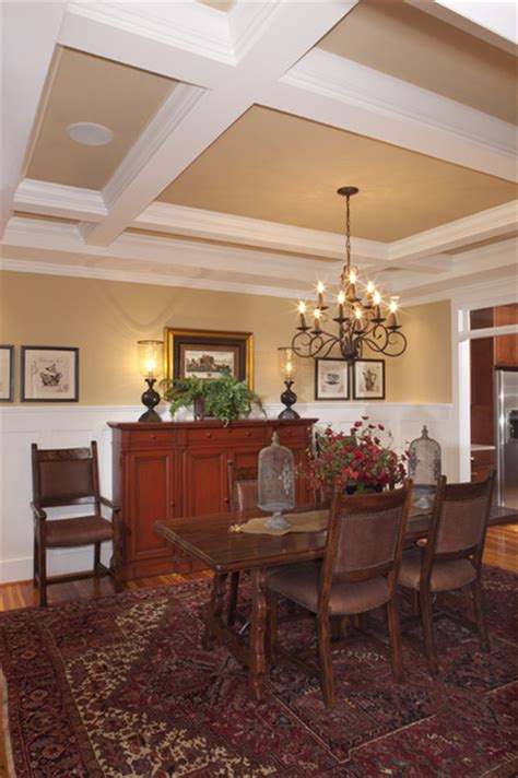 coffered ceiling dining room richmond by colonial