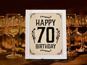 70th birthday decoration printable 70th anniversary