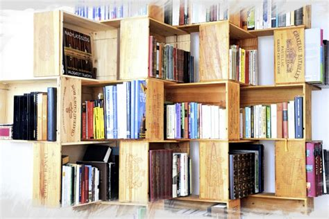 wine crate bookshelves diy bookshelf made from wine crates hungarycraft
