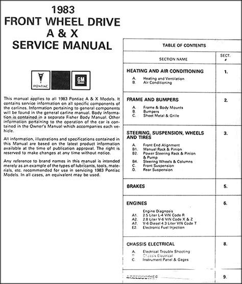 car service manuals pdf 1986 pontiac 1000 auto manual service manual pdf 1983 pontiac 6000 body repair manual pdf pontiac 6000 specs 1982 1991