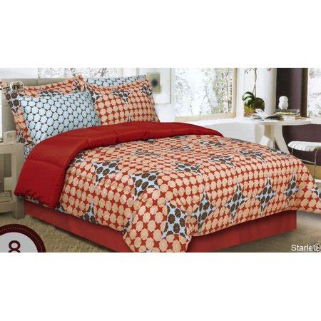 king size bed in a bag orange comforter set starlett burnt orange comforter dust ruffle pillow shams and sheet set bed in bag king size