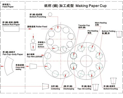 How To Make Paper Cup - flow chart of forming paper cups bowl how to make paper