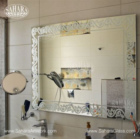 bathroom in farsi bathroom silver mirror with persian back sandblast and