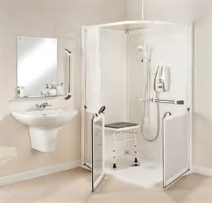 white corner one shower stalls with foldable seat in