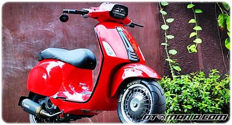 Harga Modifikasi Vespa Pts by Modifikasi Vespa Racing Look Anti Mainstream Dengan Vespa