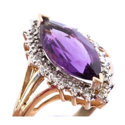 Plumb Gold Value by 10k Plumb Gold Amythest Ring