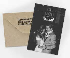 wedding thank you card and thanks