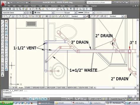 exle of cad plumbing drawing 2nd story addition