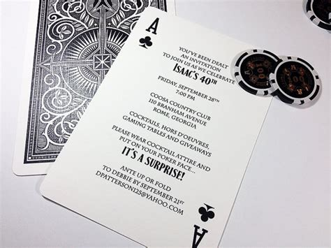 printable playing card invitation template ace of spades playing card party invitation poker