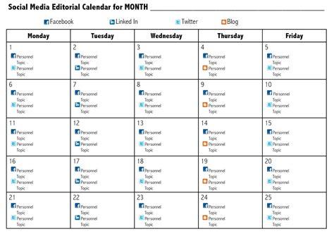 Social Media Monthly Content Calendar Template Template Calendar Design Monthly Social Media Content Calendar Template