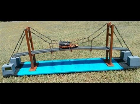 how to build a swinging bridge for kids how to make suspension bridge model youtube