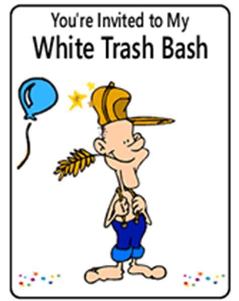 Free Printable White Trash Bash Party Invitations White Trash Invitation Templates