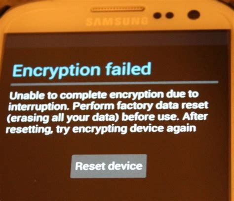 reset encrypted android phone factory reset samsung galaxy encryption failed android
