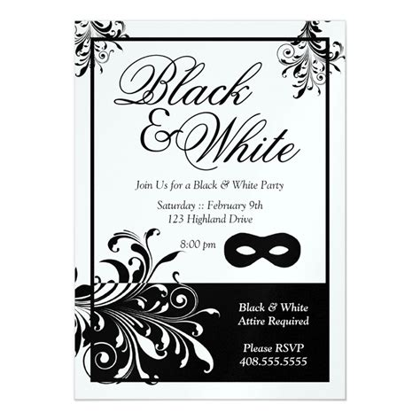 birthday invitations printable black and white black and white invitations oxsvitation