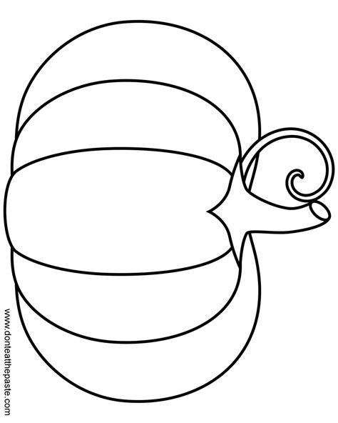 pumpkin outline coloring pages printable pumpkin outline coloring home