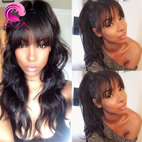 Front Wave Hairstyle by 7a Wavy Human Hair Lacefront Wigs