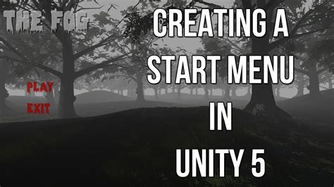 design menu in unity creating a start menu in unity 5 funnydog tv