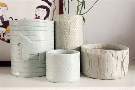 lufttrocknende modelliermasse ideen diy pottery with air clay what does