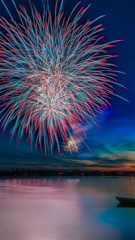 wallpaper celebrations fireworks reflections lake hd celebrations