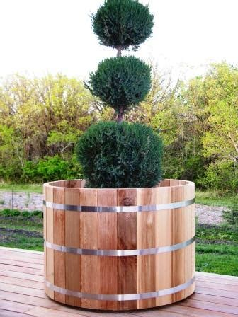 large outdoor wood cedar planter big tree planters ebay