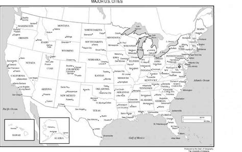 united states map with key cities map of the united states major cities holidaymapq com