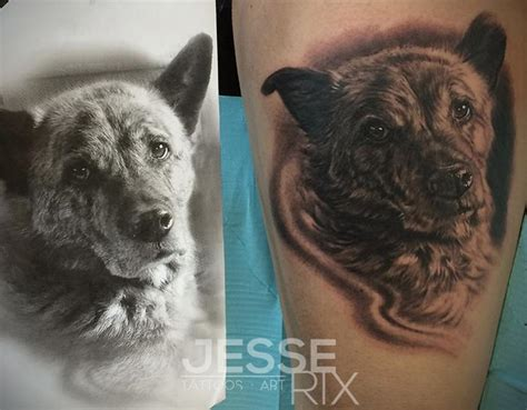 animal portrait tattoo portrait by rix tattoonow