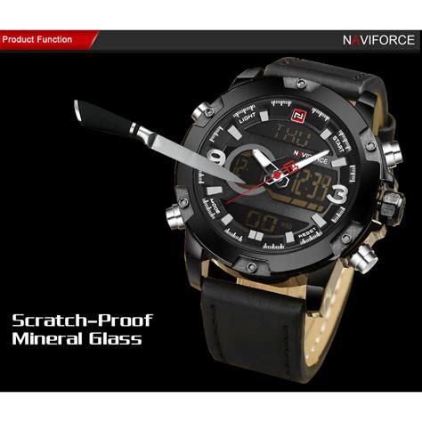 Navi Jam Tangan Analog Digital Pria Cowok Murah Elegan navi jam tangan analog digital pria 9097 black