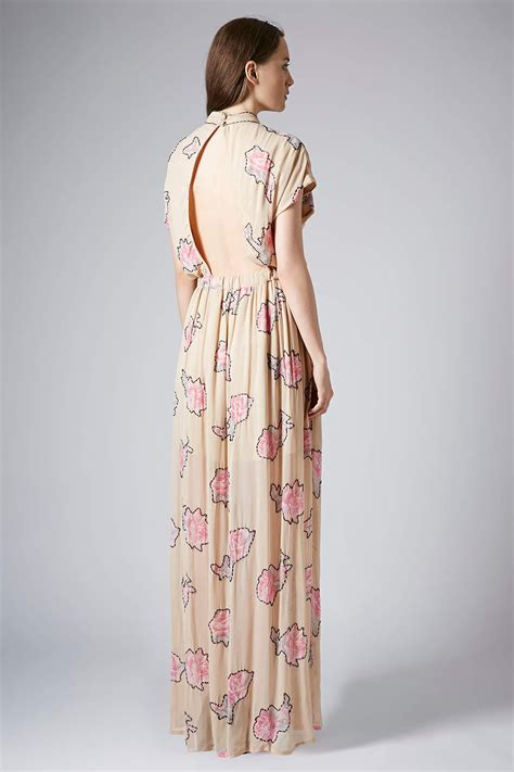 Dress Maxi Jumbo Limited lyst topshop limited edition embellished maxi dress in