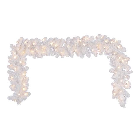 battery operated garland with white lights decorative collection 9 ft retro garland with battery
