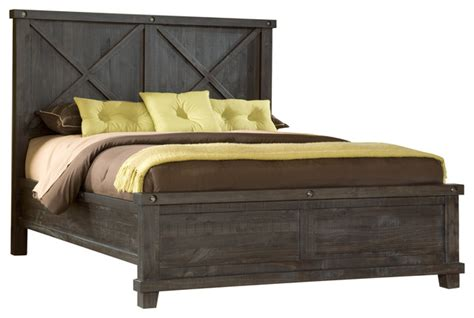 rustic full size bed yosemite full size solid wood panel bed cafe rustic