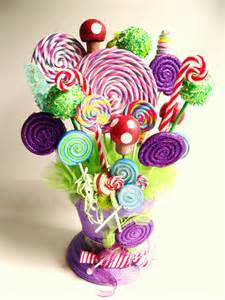 fake candy centerpiece fake lollipops rock by twistedlollyboutique