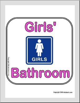 bathroom girl sign sign girls bathroom abcteach