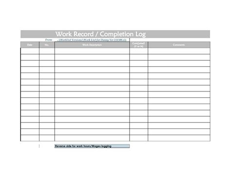workflow spreadsheet template daily work log sheet excel