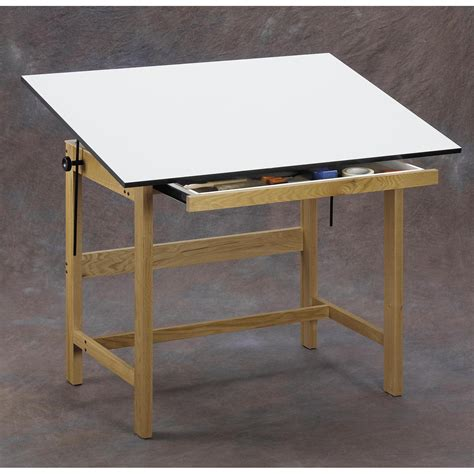 Alvin Drafting Tables Alvin Titan Solid Oak Drafting Table Drafting Drawing Tables At Hayneedle