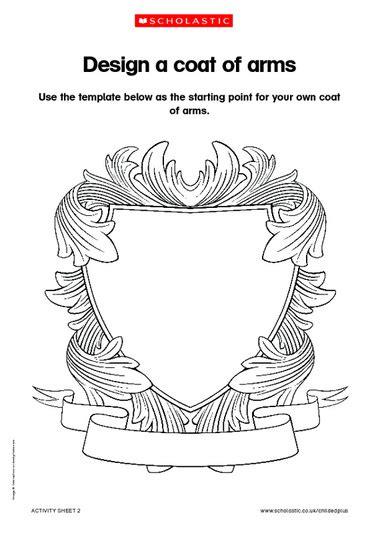 Design A Coat Of Arms Primary Ks1 Ks2 Teaching Resource Crest Design Template