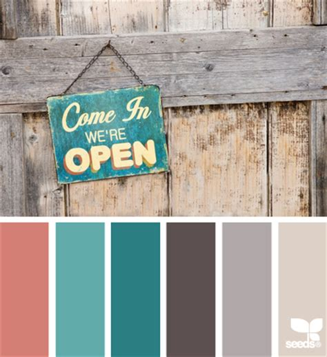 rustic color rustic hues coral teal warm turquoise dark brown grey