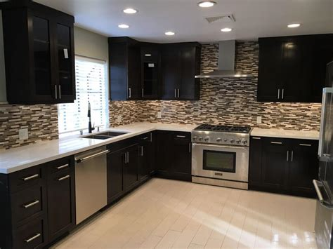 cabinet refacing san fernando valley kitchen remodel pictures